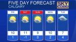 Calgary forecast Oct 20, 2016