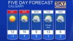 Calgary forecast Oct 21, 2016
