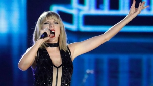 Taylor Swift performs on the eve of the Formula One U.S. Grand Prix auto race at Circuit of the Americas, Saturday, Oct. 22, 2016, in Austin, Texas. (Darron Cummings/AP Photo)