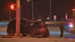 Fatal crash Country Hills Blvd and Metis Trail