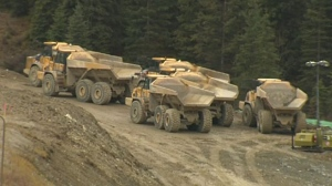 Work crews are still at the scene of a massive rock slide on the Trans-Canada Highway just west of Field, B.C.
