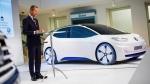 The head of Volkswagen core brand Herbert Diess at Volkswagen headquarters in Wolfsburg, Germany, on Nov. 22, 2016. (Philipp von Ditfurth / dpa via AP)
