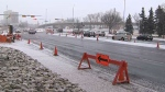 The city has put a temporary lane reversal system in place on Memorial Drive into the core, but a more permanent solution will be in place next year.