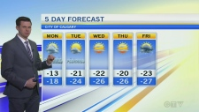 Forecast: Deep freeze takes hold in Calgary