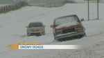 Slippery snow conditions for Calgary