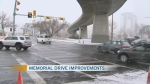 Lane reversal on Memorial Drive
