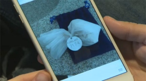 Hunter's ashes were in a little, velvet pouch in Laura's purse.