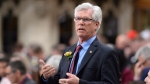 Natural Resources Minister Jim Carr responds to a question during question period in the House of Commons on Parliament Hill in Ottawa on Tuesday, May 10, 2016. THE CANADIAN PRESS/Adrian Wyld