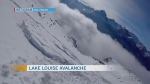 Watch an avalanche in Lake Louise