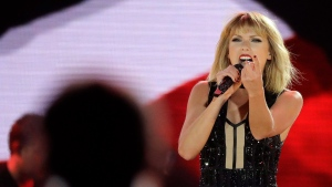 Taylor Swift performs on the eve of the Formula One U.S. Grand Prix auto race at Circuit of the Americas, Saturday, Oct. 22, 2016, in Austin, Texas. (Darron Cummings/AP)
