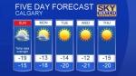 Calgary forecast Dec 10, 2016