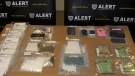 ALERT seized nearly 300 fentanyl pills and other drugs from two Lethbridge area homes.