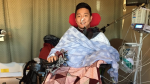 Andrew Cho was left paralyzed after mysteriously breaking a blood vessel on Jan. 6. (GoFundMe)