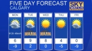 Calgary weather for Jan. 15, 2017