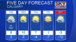 Calgary weather for Jan. 16, 2017