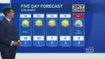Kevin Stanfield has the 5 Day Forecast from the Sk