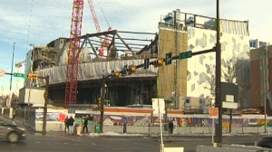 Contractors in charge of building the new downtown library caught a serious flaw in some of the materials for the $245M project.