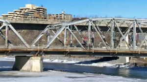 File photo of the Langevin Bridge at the south end of 4 Street Northeast