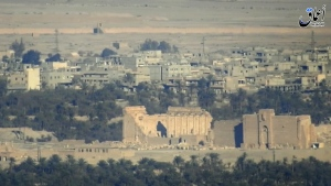 In an image made from militant video posted online by the Aamaq News Agency, a media arm of the Islamic State group, purports to show a general view of the ancient ruins of the city of Palmyra, in Homs province, Syria on Dec. 11, 2016. (Militant Video)