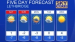 Lethbridge weather for January 20, 2017