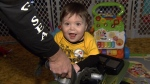 Salvatore, whose mom died shortly after giving birth to him, is seen nearly 13 months after he was born, in this photo taken on Jan. 22, 2017. (CTV News)
