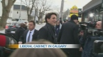 Trudeau meets with cabinet in Calgary