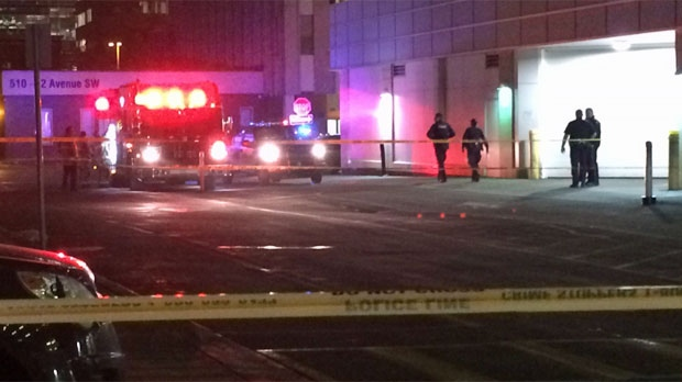 Police are investigating after a shooting victim was dropped off at the Sheldon Chumir Centre