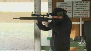 Marksman Graeme Foote is seen at a shooting range in British Colubmia. (CTV Vancouver)