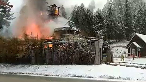 Unique home in Radium destroyed