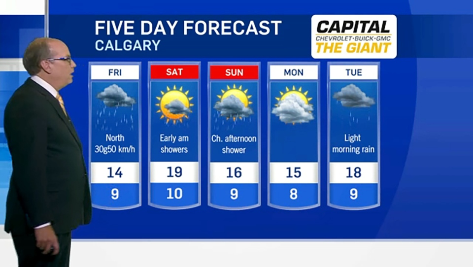 Calgary weather June 20