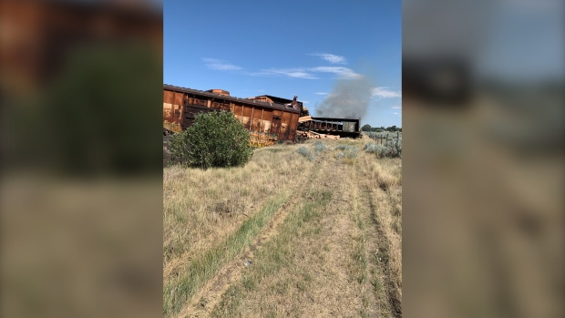 Alberta hamlet evacuated due to possible chemical exposure after train derailment