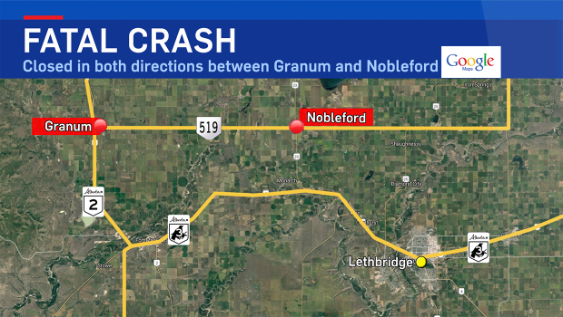 Highway 519, Granum, fatal crash, Nobleford, RCMP,
