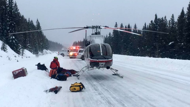 Mt Hector avalanche rescue