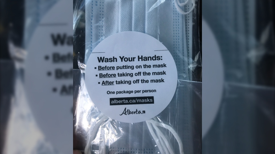 Free masks from the Alberta government