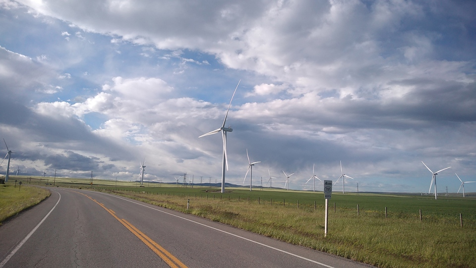 Photo of the Day, Pincher Creek, wind turbines