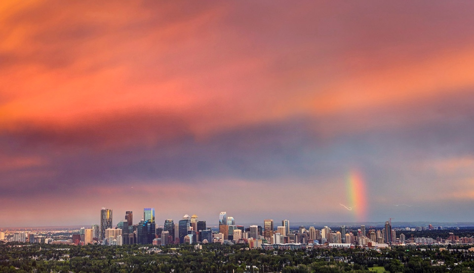 Calgary, downtown, skyline,