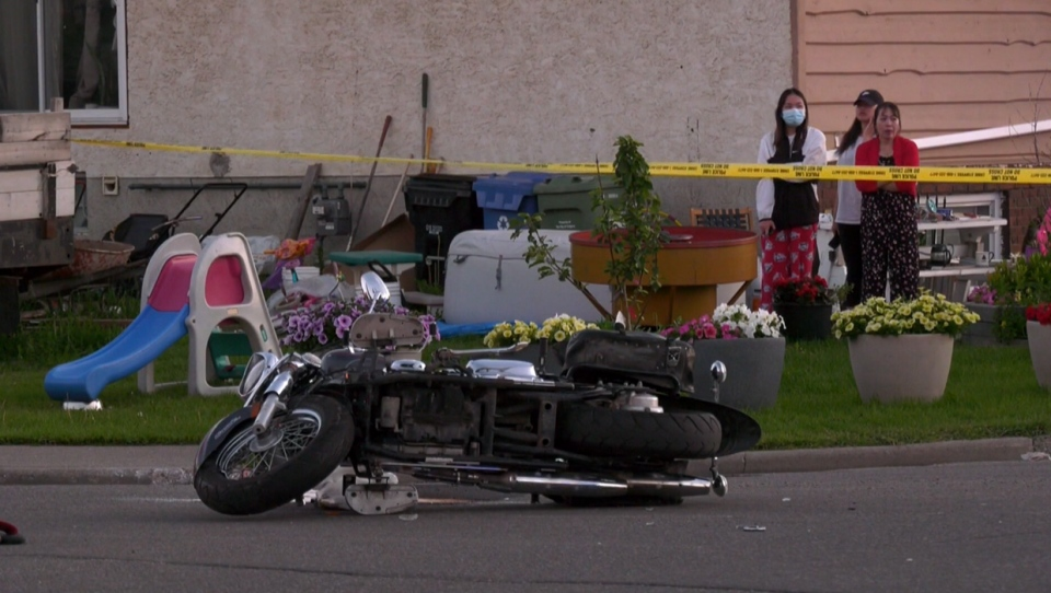 Forest Lawn, crash, motorcycle, 47 St, 19 Ave