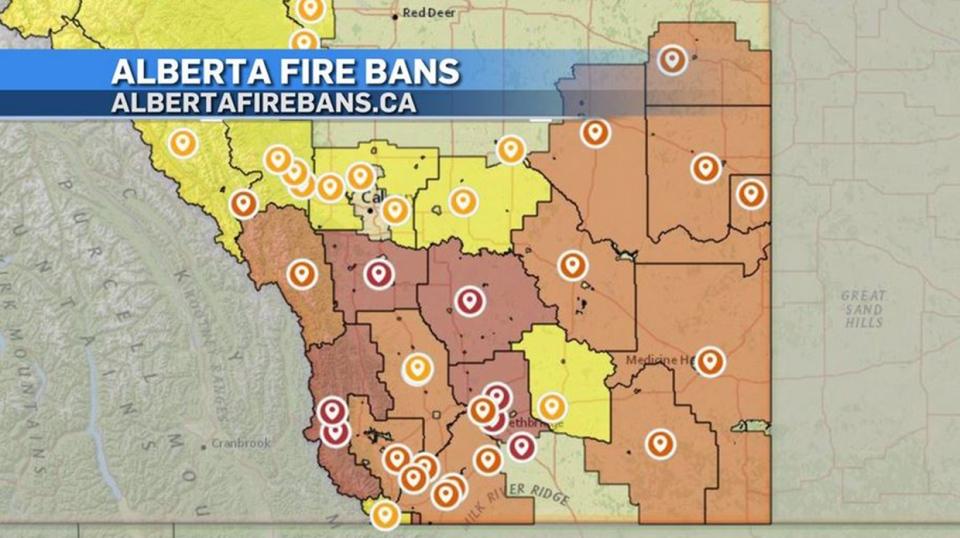 Alberta fire bans, Aug. 21, 2020