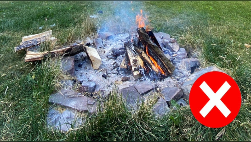 Human created wildfire