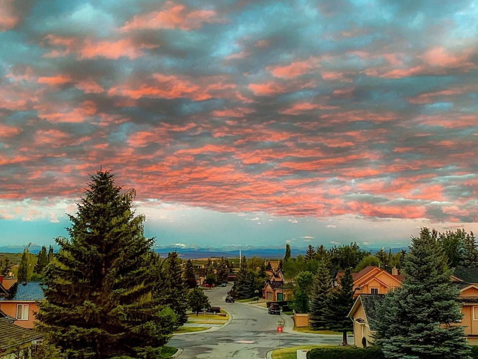Rockies, sunrise, Rocky Mountains