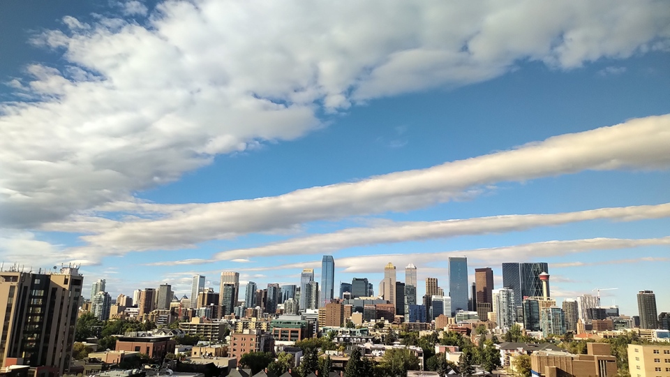 Roll cloud, Calgary, downtown, Sept. 8, 2020