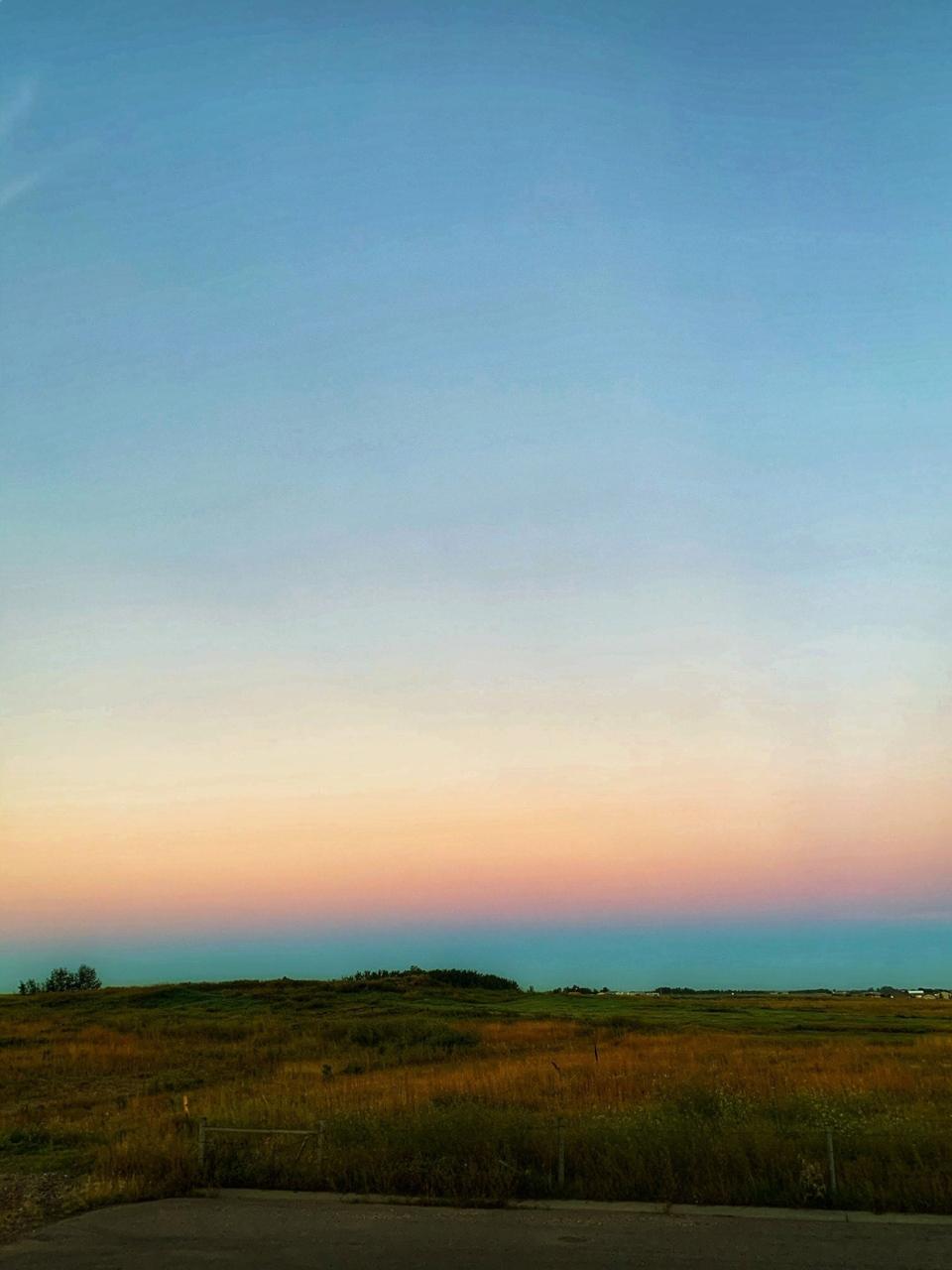 Stettler, sunrise, Alberta