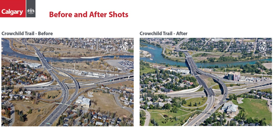 Crowchild Trail, upgrades, construction