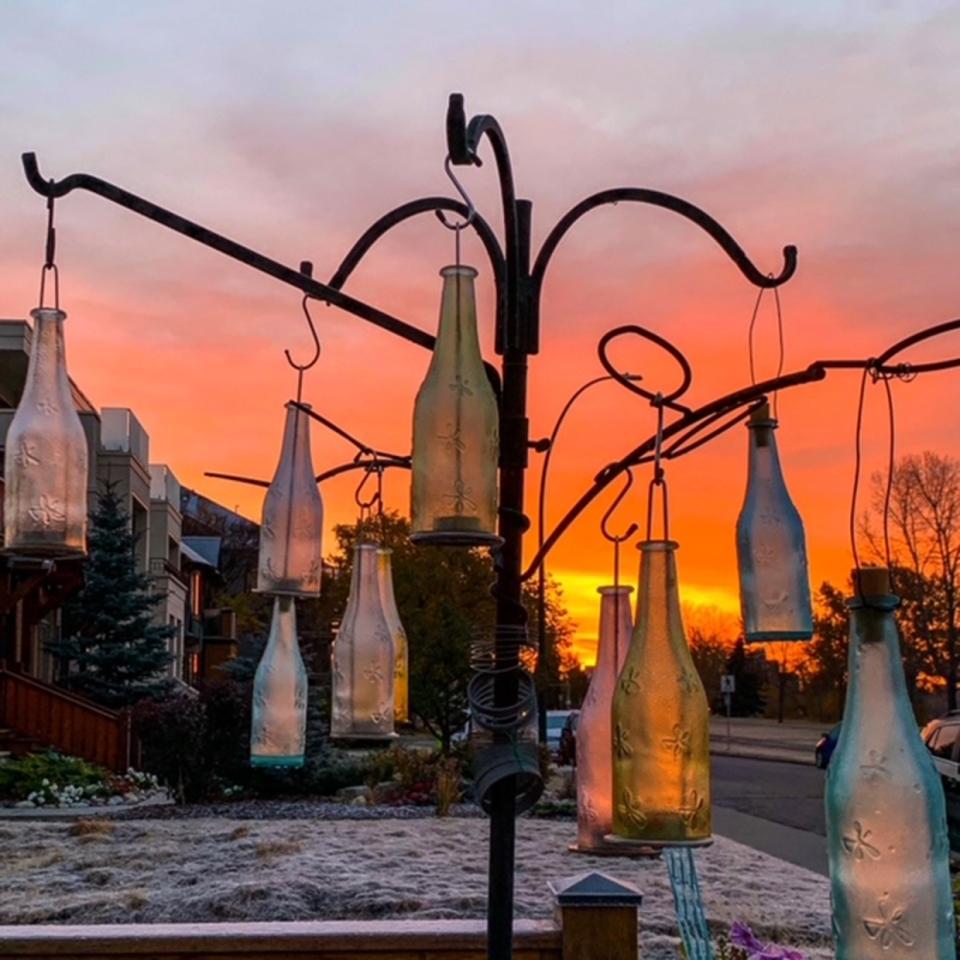 Calgary, bottle, sculpture, snow