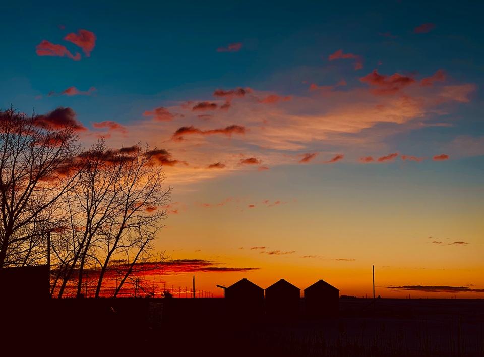 March 3, sunrise, southern Alberta, Lois