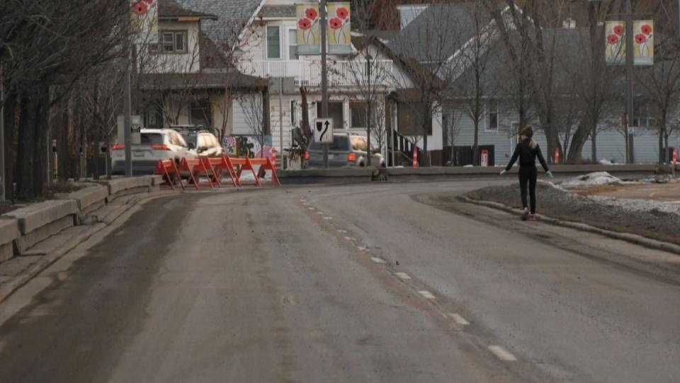 calgary, memorial drive, pedestrian, bow river, cy