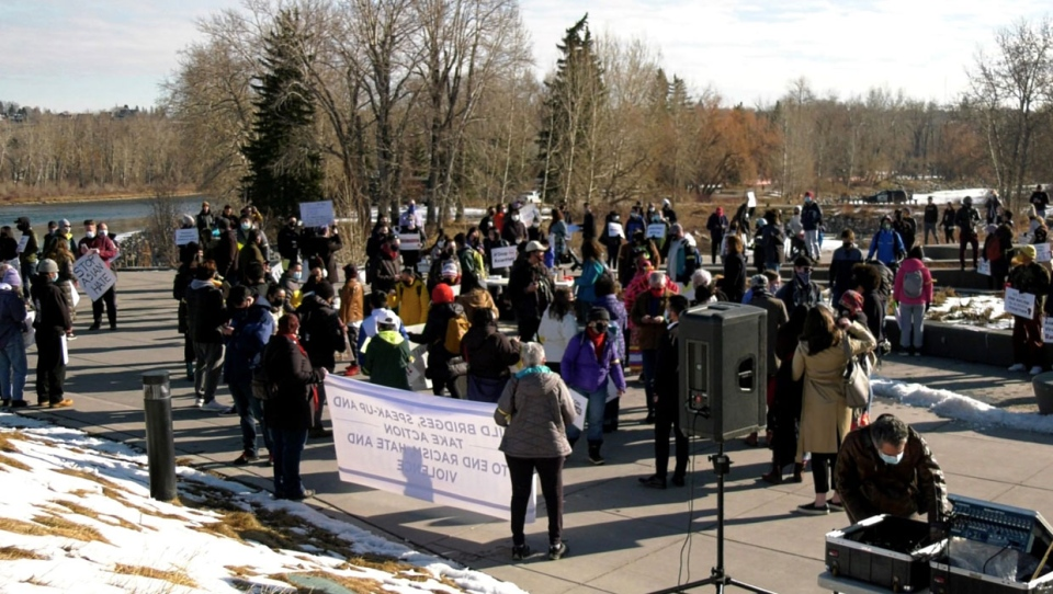 calgary, racism, march, solidarity, protest, hate,