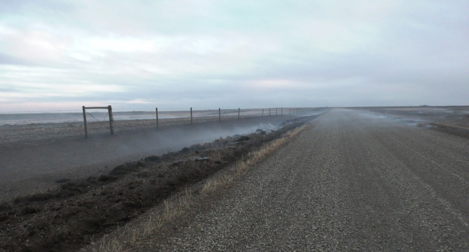 Fire near Claresholm