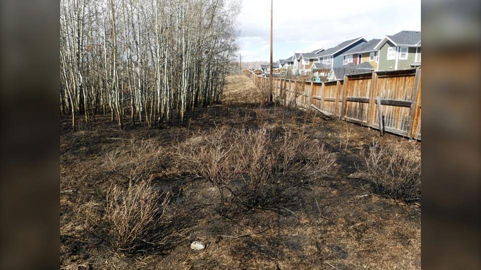 cochrane, rcmp, grass, fire