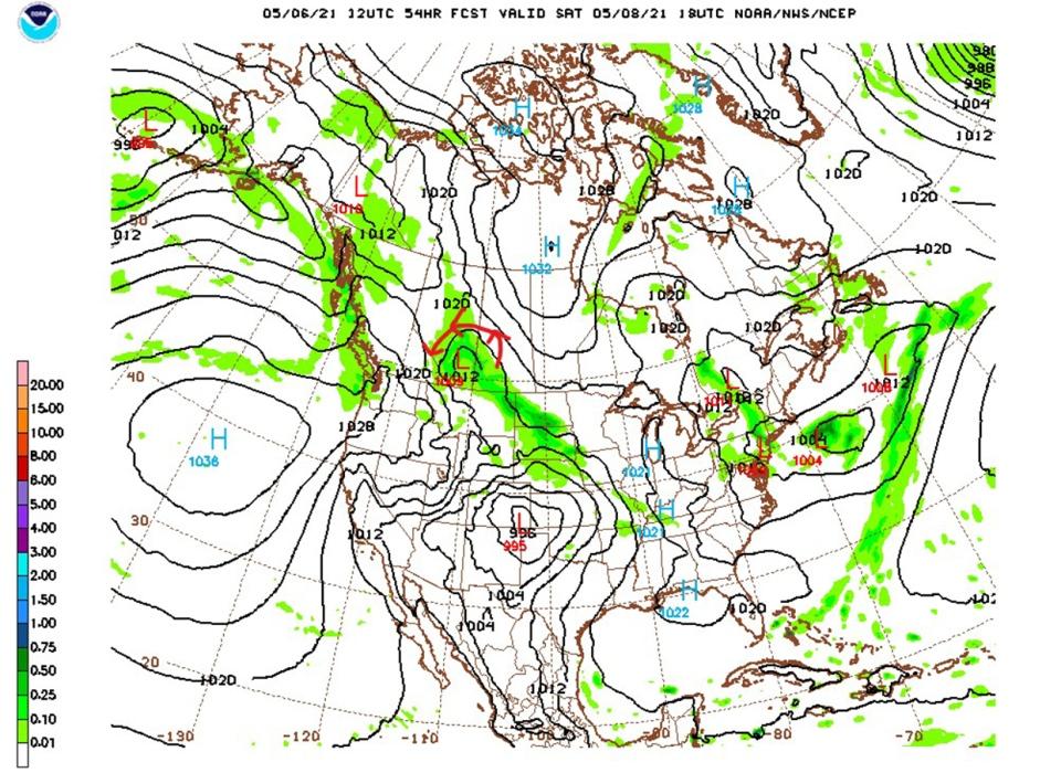 NAM model, NOAA, May